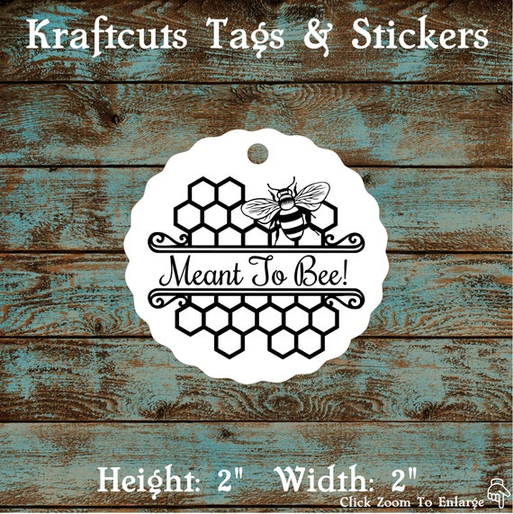 Meant to Bee Favor Tags #680 - Quantity: 30 Tags