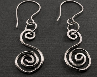Sterling Silver Square Wire Earrings