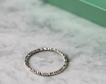 Twist Stacking Ring - Sterling Silver   dainty stacking ring   simple silver ring   twisted stacking ring   midi ring   slim ring   payday