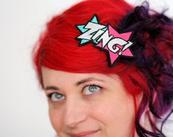 ZING Hair Clip, Comic Book Barrette, Various Colours