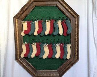 Advent Calendar 25 Stocking Ornaments  Set no. 4  Free Ship USA