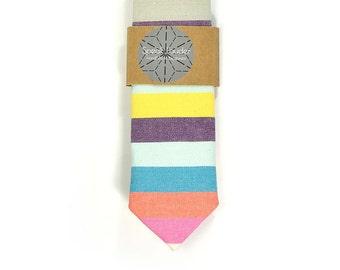 Wedding Mens Tie Skinny Necktie striped , men tie color- colorful tie, purple tie, orange tie