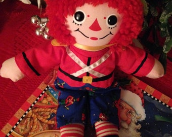 Collector's Edition Christmas Raggedy Andy as a Toy Soldier