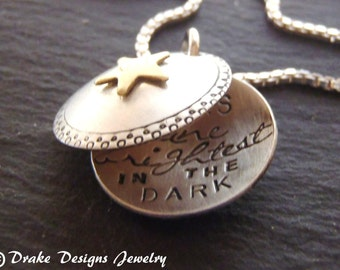 Sterling silver inspirational jewelry uplifting Inspirational necklace star locket