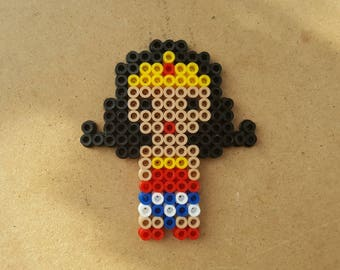 Wonder Woman, Wonder Woman Perler Beads, Wonder Women Magnet