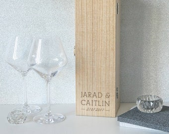 Personalised Couple Name Marriage / Engagement Wine Box (BOTTLE NOT INCLUDED)