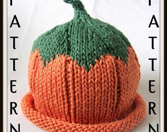 Baby Pumpkin Hat Knitting Pattern, Boston Beanies