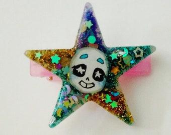 Blue star hairclip