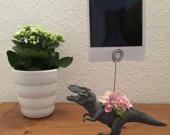 Floral Dinosaur Photo/Memo/Card Holder