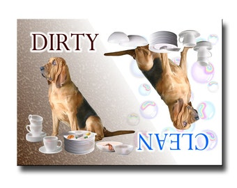 Bloodhound Clean Dirty Dishwasher Magnet