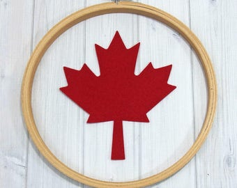 Felt Maple Leaf, 8 pieces, Large Leaves, Canada, Fall Leaves, Felt Die Cuts, Wool Blend Felt