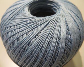Thread 100% Mercerized cotton, 100g, 560 m, light blue or yellow gold