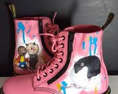 Painted custom Doc Marten...