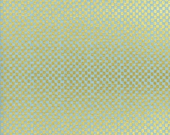 Checkers Mint Metallic from Amalfi by Anna Bond of Rifle Paper Co for Cotton + Steel - 1/2 Yard