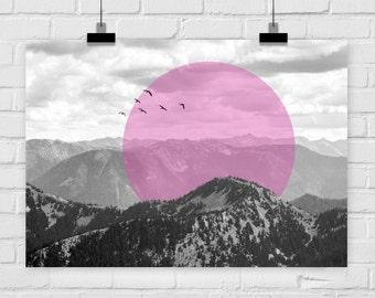fine-art print poster MOUNTAIN SUN adventure inspiring photo nature