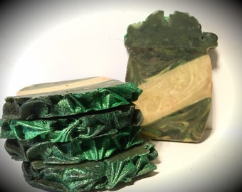 Baked Pineapple Scented, handmade soap, artisan soap, cold processed soap