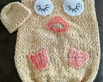 duck cocoon, baby cocoon, baby duck, sleeping duck, baby blanket, summer blanket, crochet pattern, duck crochet pattern