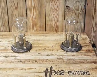 Glass Dome Steampunk Lamps