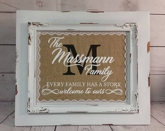 Personalized Every Family Has A Story / Wedding / Anniversay / Gift for a couple