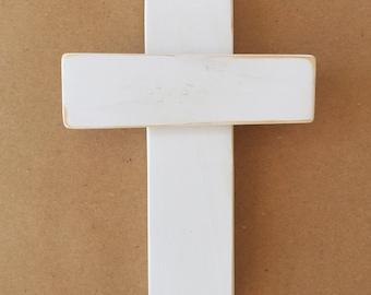 Mini Wood Cross - Religious Art - Christian Wall Art - Cross Art - Rustic Wall Cross - Entryway Decor- Housewarming Gift - Wooden Cross