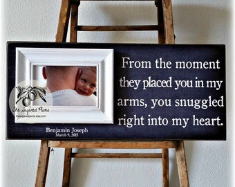 Personalized Adoption Gift Ideas, Picture Frame, From The Moment 8x20 The Sugared Plums Frames