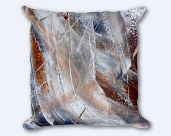 Modern Decorative Pillow, Scatter Pillow, Abstract Square Pillow, Square Pillow, Cushion Throw Pillow, Decorative Brown Pillow, Pillow Cover