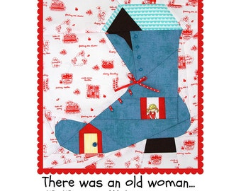 There was an old woman... Paper Pieced Pattern
