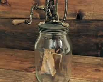 Anchor Hocking baratte à beurre ancienne en verre
