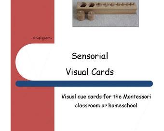 Montessori Visual Schedule Cards - Sensorial