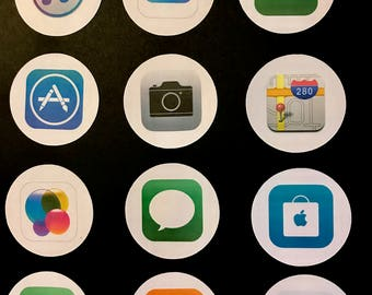 Precut Iphone Icons  - Edible images for cakes, cupcakes and cookies