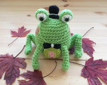 Crochet Frog, Toy Frog, Stuffed Animal