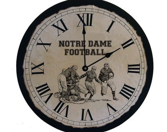 Football Clock | Notre Dame Football | College Gift | Man Cave Gift | Large Clock | Alabama Football | Football Fan Gift | Fathers Day Gift