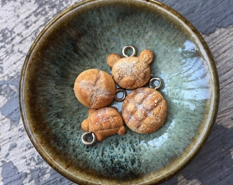 Pane Fantasia: Set of 4 Handsculpted Artisan Bread Stitch Markers for Knitters & Crocheters