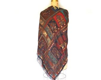 BELVEDERE Vintage  Wool Shawl Scarf Made in Austria