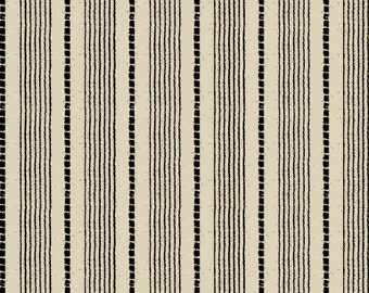 Windham Basics - Black & Cream Shirting Stripe Fabric