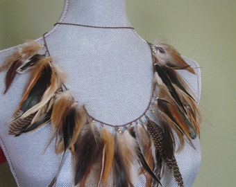 ANGELICA - wire wrapped feather necklace
