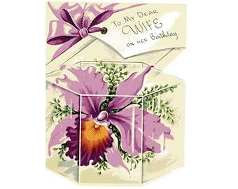 Vintage Original unused Greeting card Birthday Wife- To Grandiest Girl A Man Ever Married