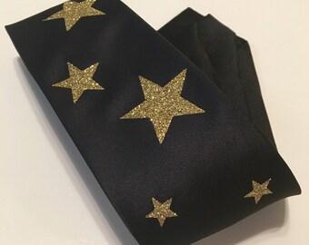 Sparkly Gold Stars Necktie