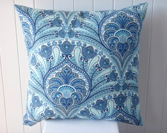 Outdoor Tommy Bahama 45cm Turquoise Blue Cushion / Pillow Cover