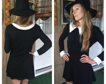 Wednesday Addams /// Peter Pan Collar Shift Dress /// Black