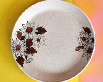 Johnson of Australia Dinner Plate - Russet flower design
