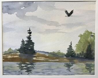 Eagle River Original Watercolor