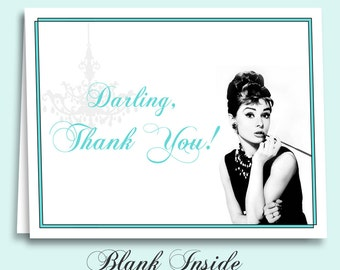 Breakfast at Tiffany's Thank You Cards Instant Download Printable for Bridal Shower, Birthday Party and More!