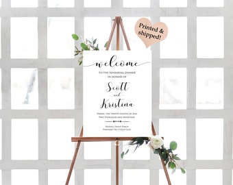 Rehearsal Dinner Sign- Rehearsal Dinner Decorations- Rehearsal Dinner Ideas- Wedding Rehearsal Signs- Wedding Rehearsal Decorations