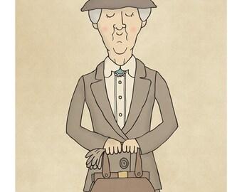 Miss Marple - Illustration Print