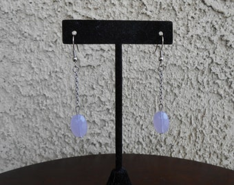 Lavender Glass Earrings