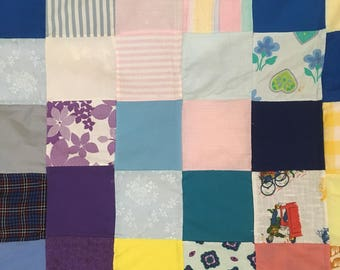 """Handcrafted Patchwork Baby Quilt Lap Quilt Wall Decor 42"""" x 42"""""""