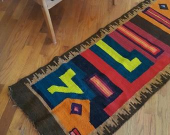 Handmade rug, handwoven rug, Peruvian rug, area rug, floor rug, rug