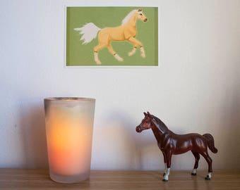 Palomino Horse Art Print