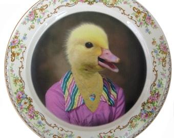 "Delilah Duck, School Portrait Plate 10.15"""